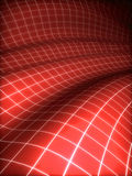 3D grid covered red surface Stock Photography