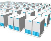 3d grijze blauwe server Stock Fotografie