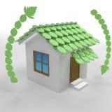 3d groen ecohuis Stock Foto