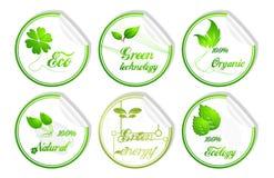 3D groen ecologiepictogram Stock Fotografie