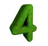 3d groen nummer 4 vector illustratie