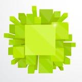 3d groene abstracte achtergrond Stock Foto's