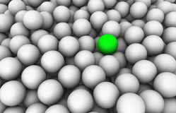 3D groene bal Stock Foto's