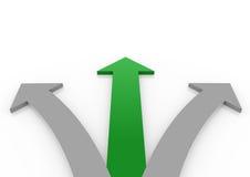 3d groene hoge pijl Stock Afbeelding
