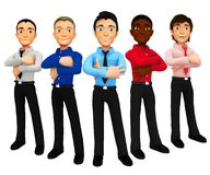 3D group of business men Stock Photo