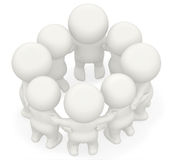 3D group hug Stock Photo