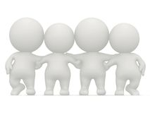 3D group hug Royalty Free Stock Images