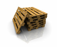 3D group pallets Royalty Free Stock Image