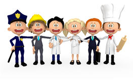 3D group of workers Royalty Free Stock Image