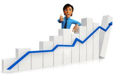3D growth graph Royalty Free Stock Photography