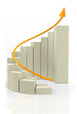 3D Growth graph Royalty Free Stock Photos