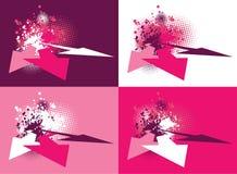 3d grunge abstracte ontwerpen Vector Illustratie