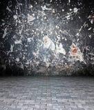 3d grunge concrete textuur, leeg binnenland Stock Afbeelding