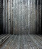 3d grunge metal texture, empty interior Royalty Free Stock Photography