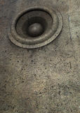 3d grunge old speaker sound system DJ Stock Image