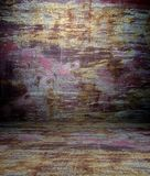 3d grunge and rusty texture, empty interior Stock Images
