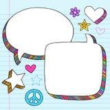 3d gulgocze doodles notatnika ustalonego mowy wektor Obrazy Stock