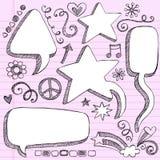 3d gulgocze doodles rysującą ręki szkicową mowę Zdjęcia Stock