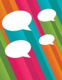 3d gulgocze kolorową mowę Fotografia Royalty Free