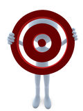 3D Guy With A Bullseye Stock Images