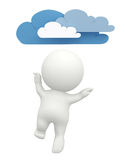 3d guy with clouds Royalty Free Stock Photo