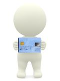 3D guy with a debit card Royalty Free Stock Image