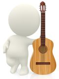 3D guy with a guitar Royalty Free Stock Photography