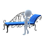 3D Guy Patio Furniture Stock Images