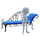 3D Guy Patio Furniture Stock Image