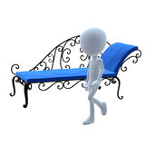 3D Guy Patio Furniture Royalty Free Stock Photos