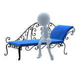 3D Guy Patio Furniture Stock Photography