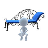 3D Guy Patio Furniture Royalty Free Stock Images