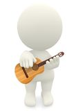 3D guy playing guitar Royalty Free Stock Photography