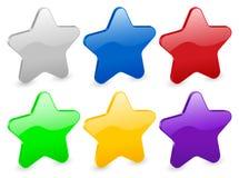 3d gwiazdy Ilustracji