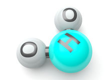 3d h20 molecules Stock Photo