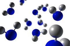 3d h2o分子回报 免版税库存图片