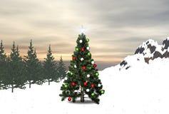 3D ha decorato l'albero Immagine Stock Libera da Diritti