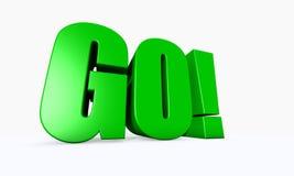 3D ha illustrato la parola VA! Immagini Stock