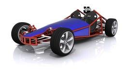 3D ha reso l'automobile sportiva di hobby Fotografie Stock Libere da Diritti