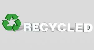 3d ha riciclato Fotografie Stock