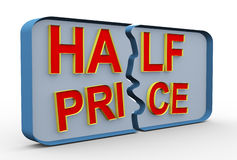 3d half price Stock Photo