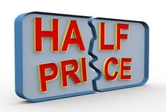 3d half price vector illustration