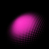 3D halftone circle background. EPS 8 Royalty Free Stock Photo