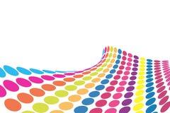 3D halftone colorful retro dot stock illustration
