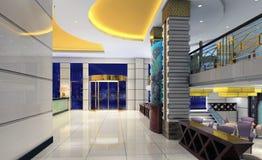3d hall moderne, couloir Image libre de droits