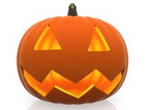 3D Halloween pumpkin Stock Photo