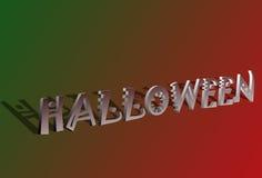 3D Halloween text royalty free illustration