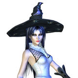3d Halloween Witch Stock Photography