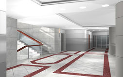 3D hallway Stock Photos