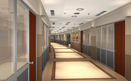 3D hallway Royalty Free Stock Photo